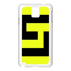 Black And Yellow Samsung Galaxy Note 3 N9005 Case (white) by timelessartoncanvas