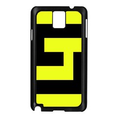Black And Yellow Samsung Galaxy Note 3 N9005 Case (black) by timelessartoncanvas