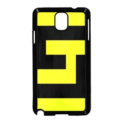Black And Yellow Samsung Galaxy Note 3 Neo Hardshell Case (black) by timelessartoncanvas