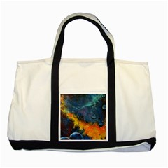 Space Balls Two Tone Tote Bag by timelessartoncanvas