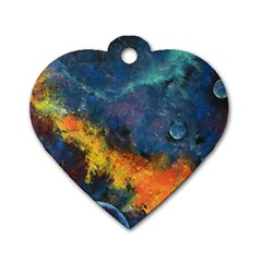 Space Balls Dog Tag Heart (one Side) by timelessartoncanvas