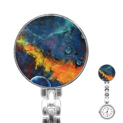 Space Balls Stainless Steel Nurses Watch by timelessartoncanvas