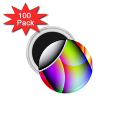 Psychedelic Design 1 75  Magnets (100 Pack)  by timelessartoncanvas