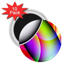 Psychedelic Design 2 25  Magnets (10 Pack)  by timelessartoncanvas