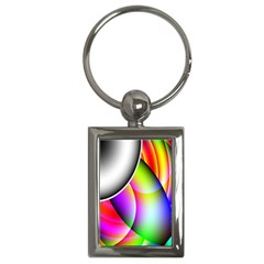 Psychedelic Design Key Chains (rectangle)  by timelessartoncanvas
