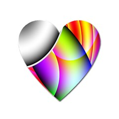 Psychedelic Design Heart Magnet by timelessartoncanvas