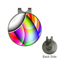 Psychedelic Design Hat Clips With Golf Markers by timelessartoncanvas