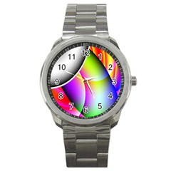 Psychedelic Design Sport Metal Watch