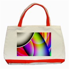 Psychedelic Design Classic Tote Bag (red) by timelessartoncanvas