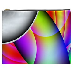Psychedelic Design Cosmetic Bag (xxxl)  by timelessartoncanvas