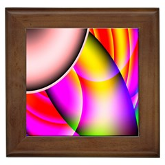 Colorful 1 Framed Tiles by timelessartoncanvas