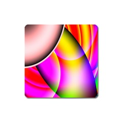 Colorful 1 Square Magnet by timelessartoncanvas