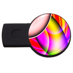 Colorful 1 Usb Flash Drive Round (4 Gb)  by timelessartoncanvas
