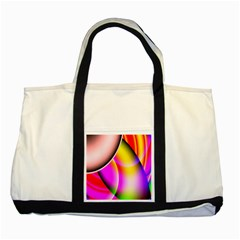 Colorful 1 Two Tone Tote Bag by timelessartoncanvas