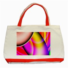 Colorful 1 Classic Tote Bag (red) by timelessartoncanvas