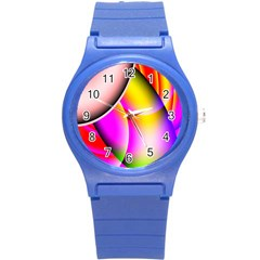 Colorful 1 Round Plastic Sport Watch (s) by timelessartoncanvas