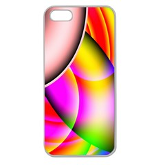 Colorful 1 Apple Seamless Iphone 5 Case (clear) by timelessartoncanvas