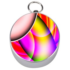 Colorful 1 Silver Compasses by timelessartoncanvas