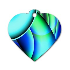 New 2 Dog Tag Heart (one Side) by timelessartoncanvas