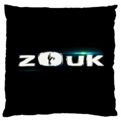 Zouk Large Cushion Case (one Side) by LetsDanceHaveFun
