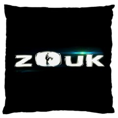 Zouk Large Flano Cushion Case (two Sides) by LetsDanceHaveFun
