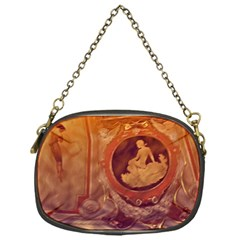 Vintage Ladies Artwork Orange Chain Purses (one Side)  by BrightVibesDesign