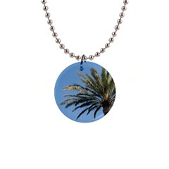 Tropical Palm Tree  Button Necklaces by BrightVibesDesign