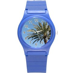 Tropical Palm Tree  Round Plastic Sport Watch (s) by BrightVibesDesign