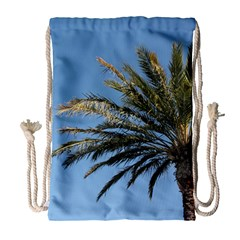 Tropical Palm Tree  Drawstring Bag (large) by BrightVibesDesign
