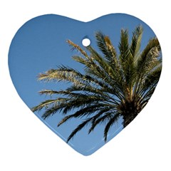 Tropical Palm Tree  Heart Ornament (2 Sides) by BrightVibesDesign
