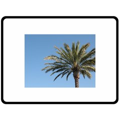 Tropical Palm Tree  Fleece Blanket (large)  by BrightVibesDesign