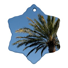 Tropical Palm Tree  Snowflake Ornament (2 Side) by BrightVibesDesign