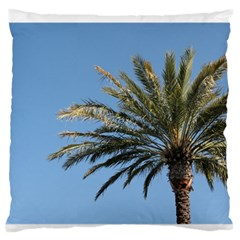 Tropical Palm Tree  Large Flano Cushion Case (one Side) by BrightVibesDesign