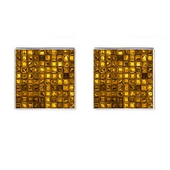 Glossy Tiles, Golden Cufflinks (square) by MoreColorsinLife