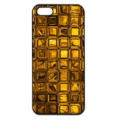 Glossy Tiles, Golden Apple Iphone 5 Seamless Case (black) by MoreColorsinLife