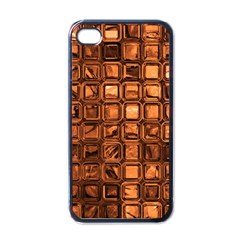 Glossy Tiles, Terra Apple Iphone 4 Case (black) by MoreColorsinLife