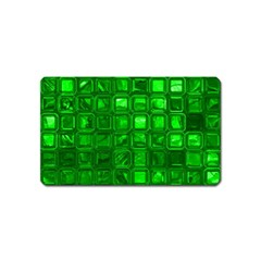 Glossy Tiles,green Magnet (name Card)