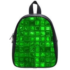 Glossy Tiles,green School Bags (small)  by MoreColorsinLife