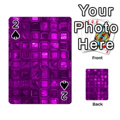 Glossy Tiles,purple Playing Cards 54 Designs  by MoreColorsinLife