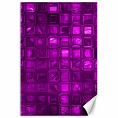 Glossy Tiles,purple Canvas 20  X 30   by MoreColorsinLife