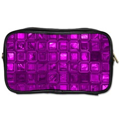Glossy Tiles,purple Toiletries Bags 2 Side by MoreColorsinLife
