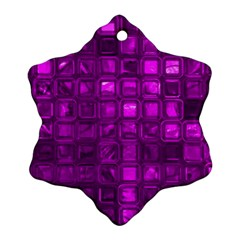 Glossy Tiles,purple Ornament (snowflake)