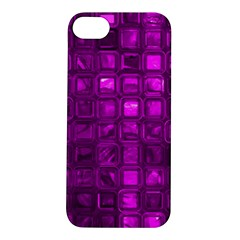 Glossy Tiles,purple Apple Iphone 5s/ Se Hardshell Case by MoreColorsinLife