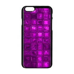 Glossy Tiles,purple Apple Iphone 6/6s Black Enamel Case by MoreColorsinLife