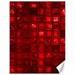 Glossy Tiles,red Canvas 12  X 16   by MoreColorsinLife