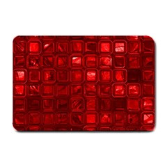 Glossy Tiles,red Small Doormat  by MoreColorsinLife