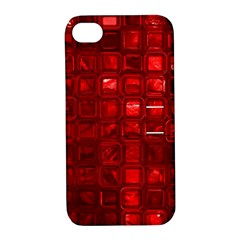 Glossy Tiles,red Apple Iphone 4/4s Hardshell Case With Stand by MoreColorsinLife