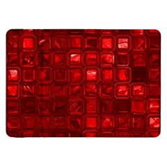 Glossy Tiles,red Samsung Galaxy Tab 8 9  P7300 Flip Case by MoreColorsinLife
