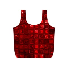Glossy Tiles,red Full Print Recycle Bags (s)  by MoreColorsinLife