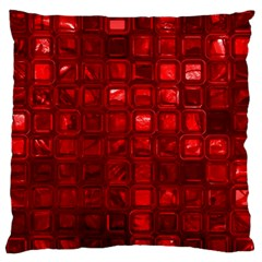 Glossy Tiles,red Standard Flano Cushion Case (one Side) by MoreColorsinLife